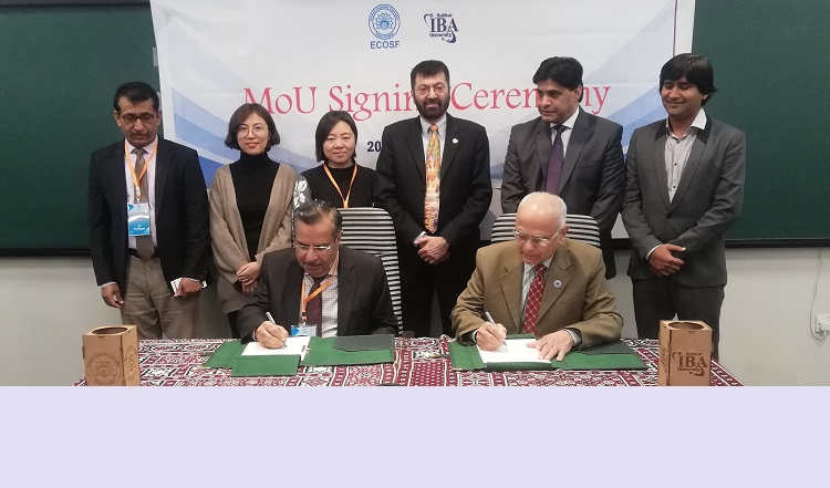 MoU between ECOSF and Sukkur IBA University signed for promotion and capacity building on IBSE  in ECO region (Jan 20, 2020)