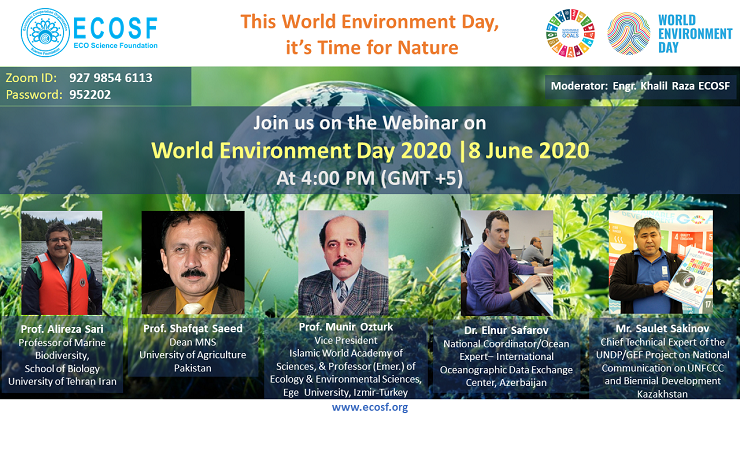 ECOSF organized a webinar on World Environment Day (Jun. 08, 2020)